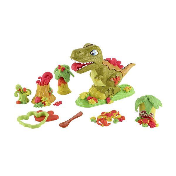 juego dinosaurio rex plastilina