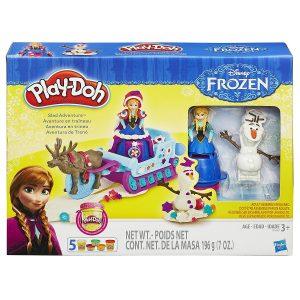 juego plastilina trineo frozen