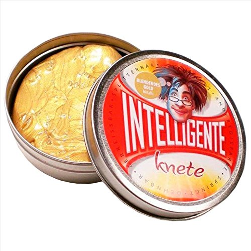 plastilina inteligente color oro