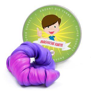 plastilina magica cambia de color lila